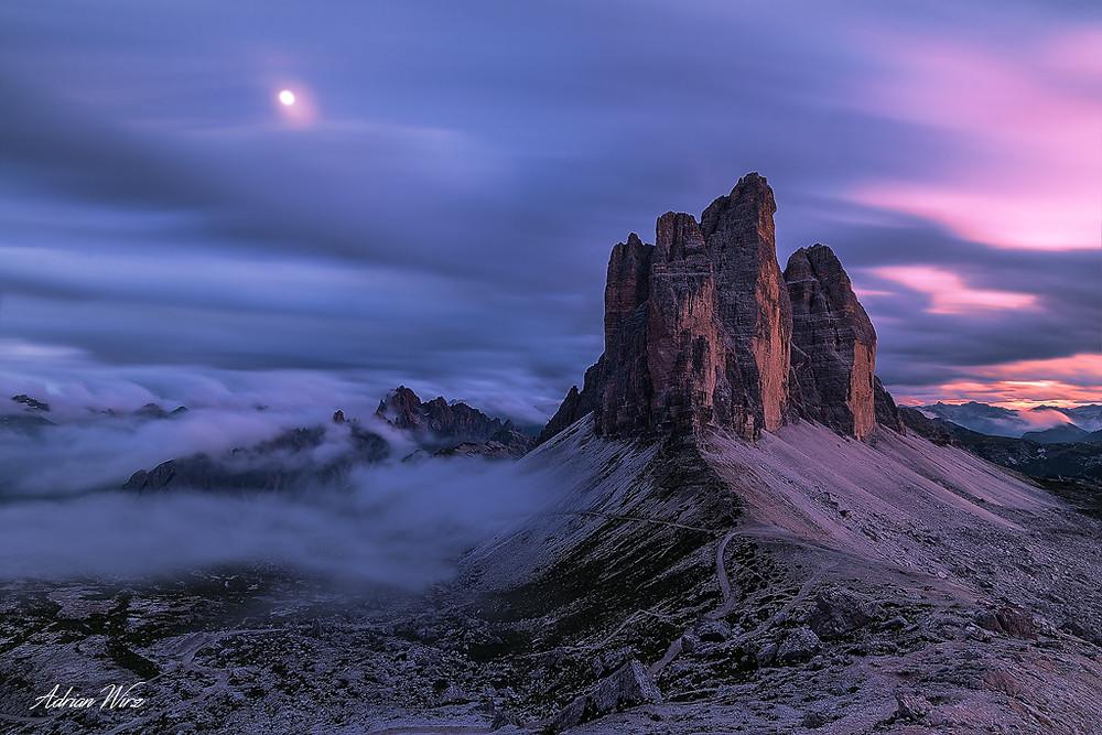 Drei Zinnen in den Dolomiten