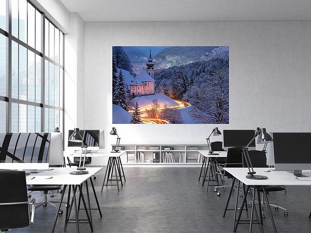 Acrylbild im Büro