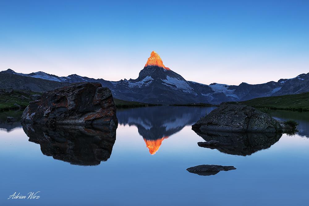 Matterhorn Zermatt am Stellisee