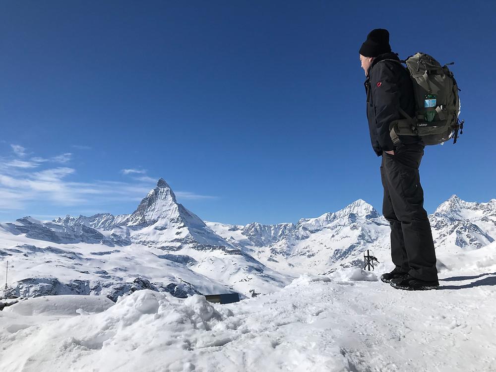 Blick zum Matterhorn vom Gornergrat