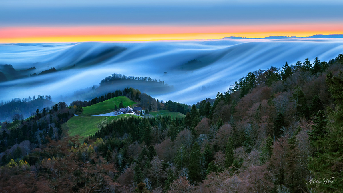 Nebelwelle am Bölchen