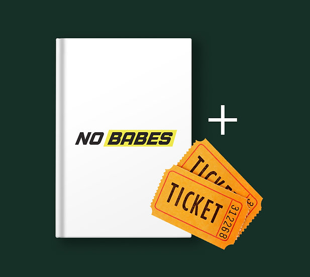 Pre-order No Babes photobook + 2 tickets for the exposition