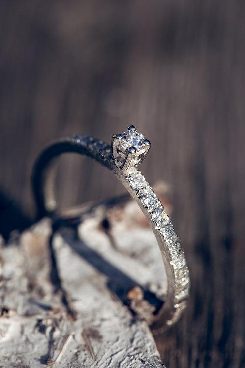 Pia (Diamant en 18K wit goud)