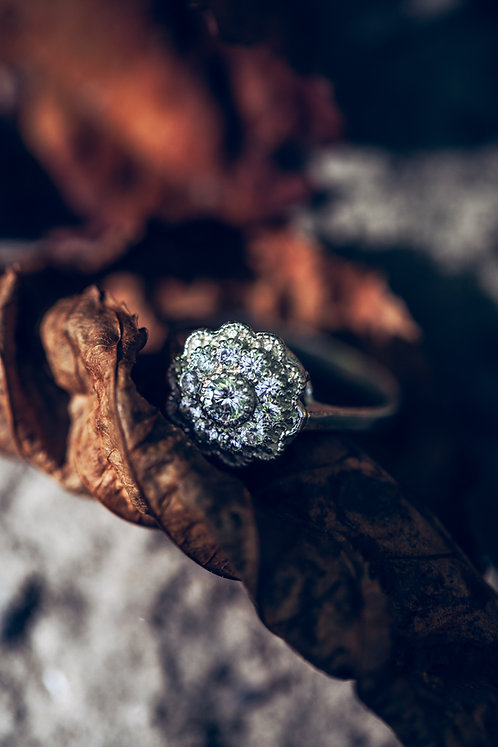 Rosa (Diamant en 18K wit goud)