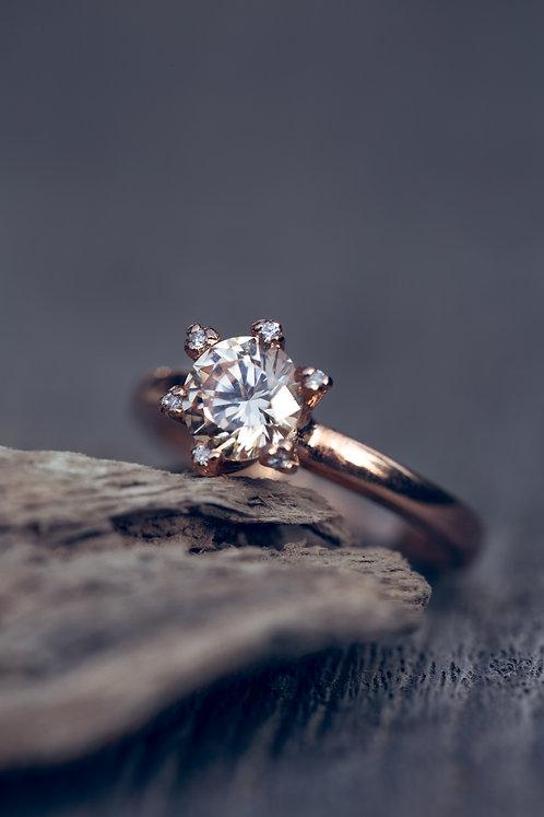 Ariella (Zirkoon, diamant en 18K Rosé goud)