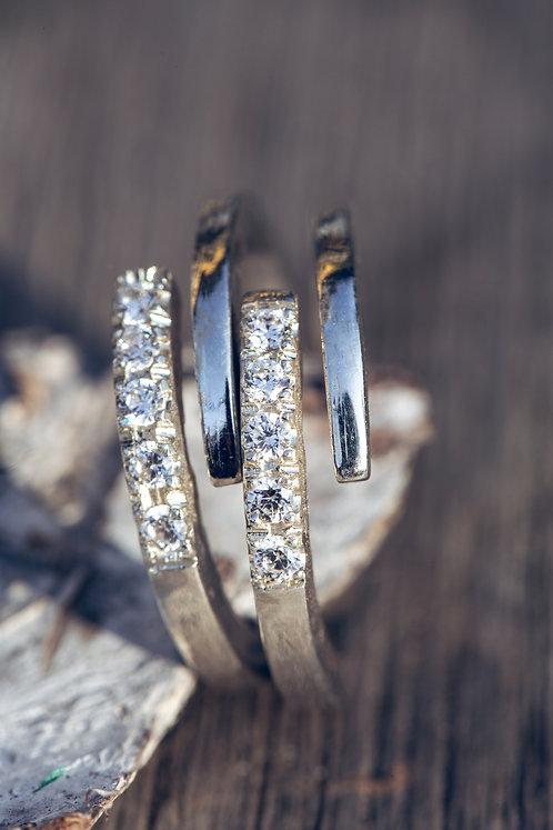 Elisa (Diamant en 18K wit goud)