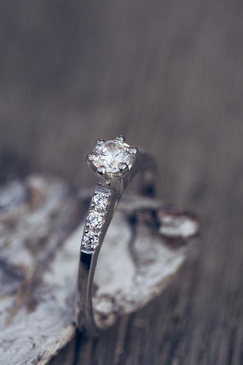 Sofia (Diamant en 18K wit goud)