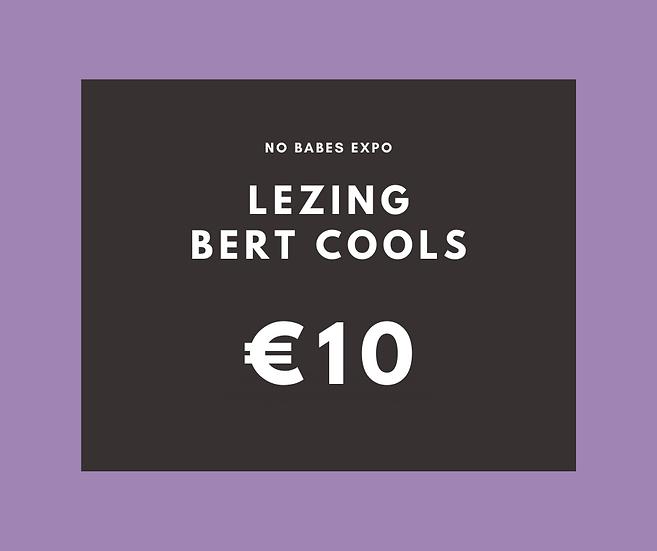 Lezing: De zin van ziek zijn - Bert Cools