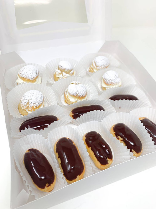 Mini Eclair and Mini Cream puff Combo Box