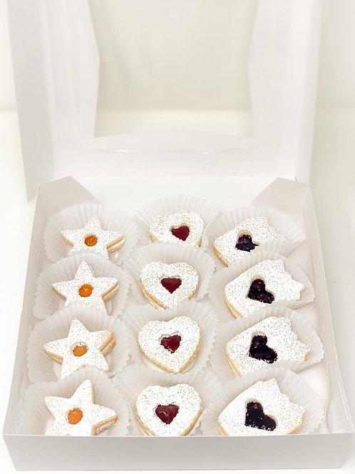 Linzer cookie Gift Box