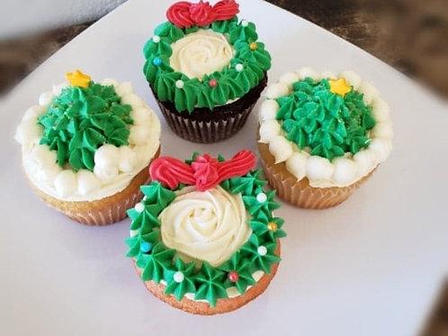 Holiday Theme Cupcake (Each)