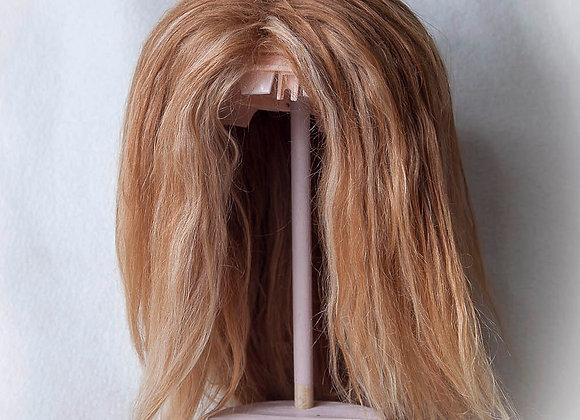 Natural alpaca hair Blythe reroot