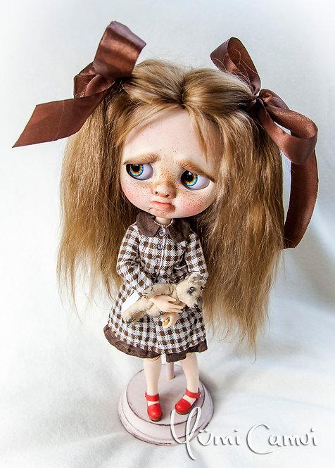 Custom Neo Blythe upset doll Polly