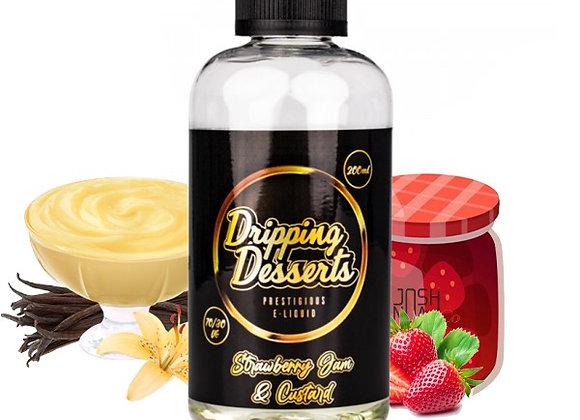 Dripping Desserts - Strawberry jam and Custard 200ml