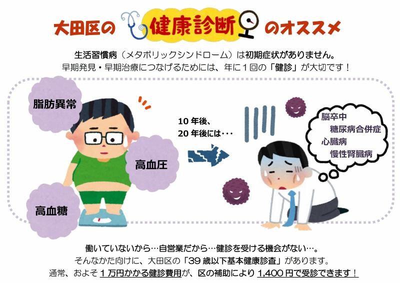 大田区の検診イラスト