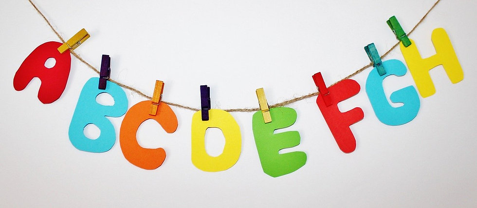 アルファベット装飾