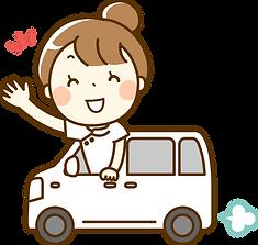車で訪問する看護士