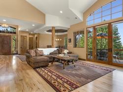 239 E Jeffrey Pine Rd living room and deck