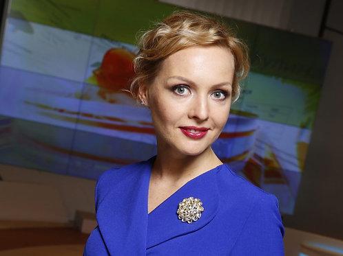 Ирина Сашина -российская телеведущая, преподаватель МГУ им. Ломоносова