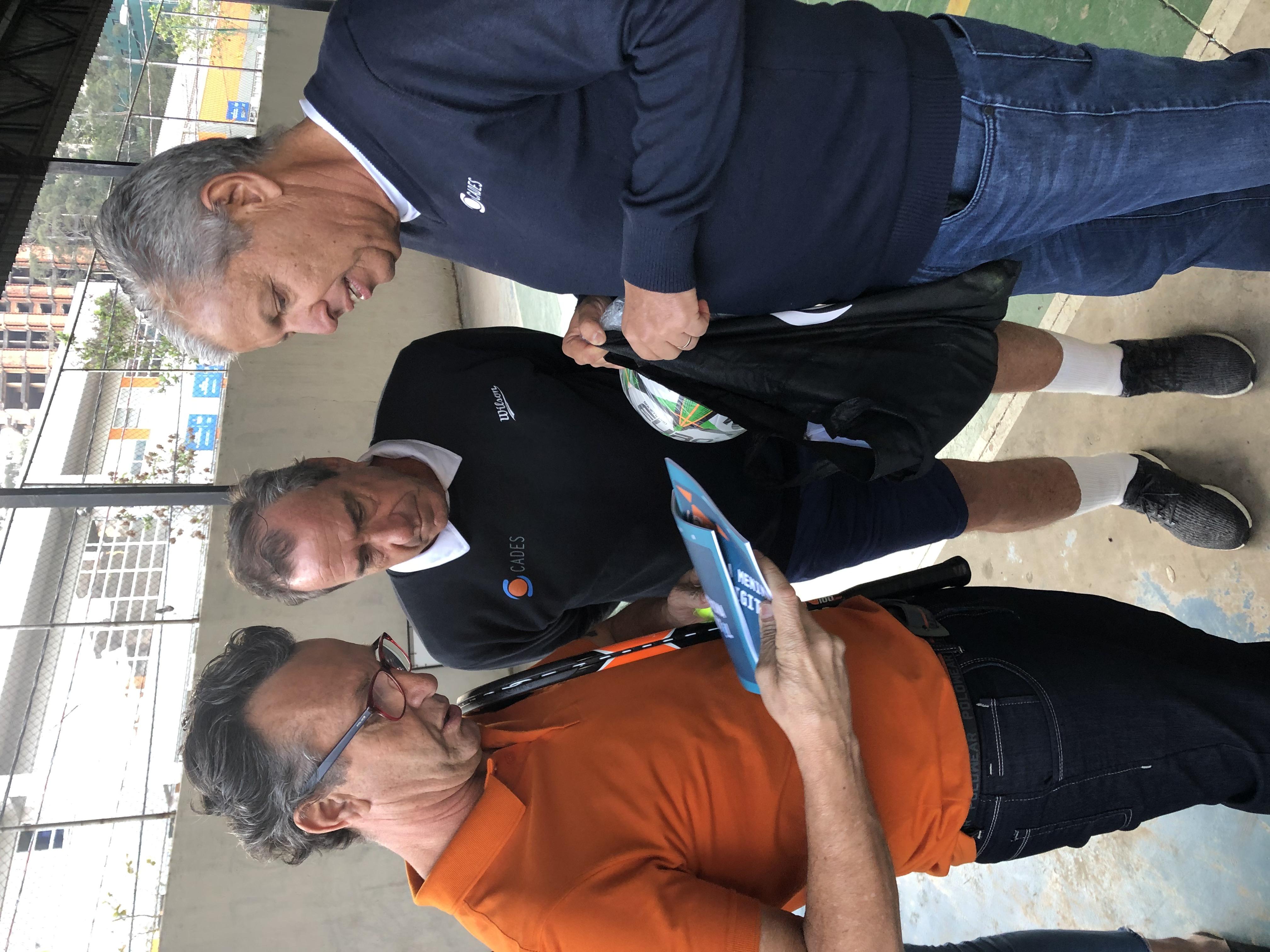 Neto visita projeto em Paraisópolis