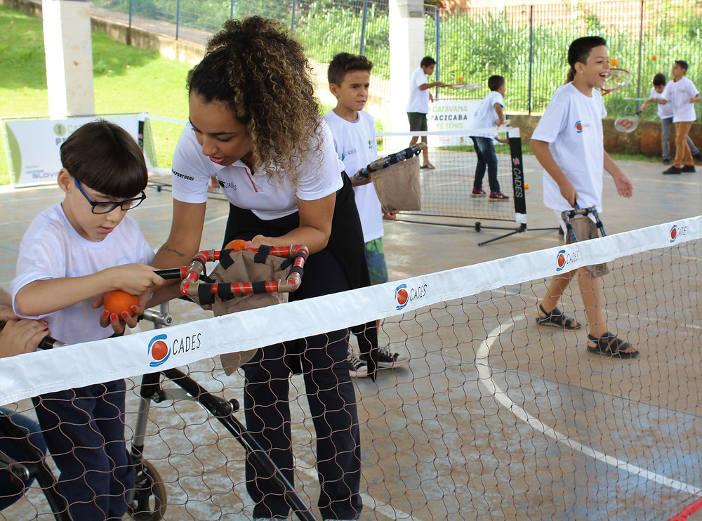 Pré Tênis na escola Wilson Guidotti