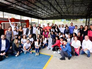 Instituto recebe Cervejaria Ambev no projeto Tênis para Todos Paraisópolis