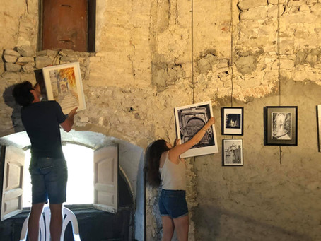 Exposition de peintures et sculptures