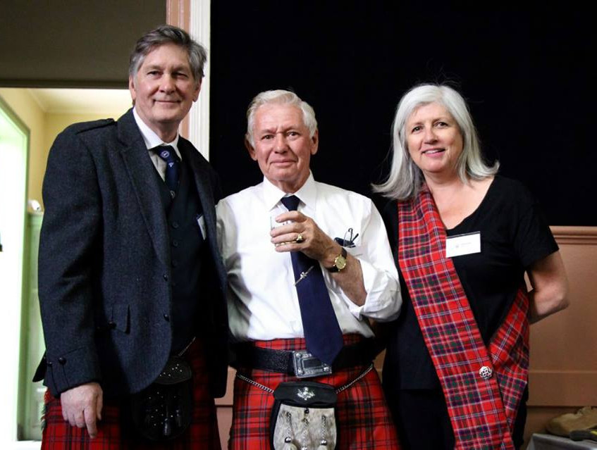 Secretary Euan McGillivray, Councillor David McGillivray and Archivist Lynda Collier