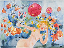 Aquarelle des belles endormies par Jehanne Guérard