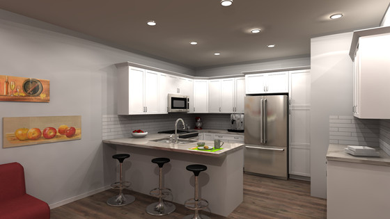 Unit 'A' Kitchen Preview