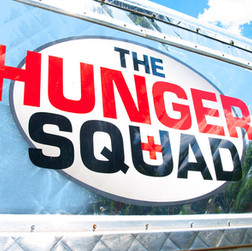 The Hunger Squad Logo and Food Truck Design
