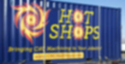 Hot Shops container wrap design