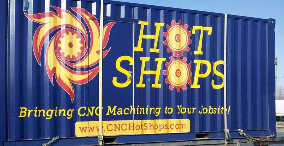 Hot Shops container wrap design