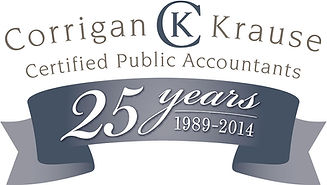 Corrigan Krause 25 year logo design