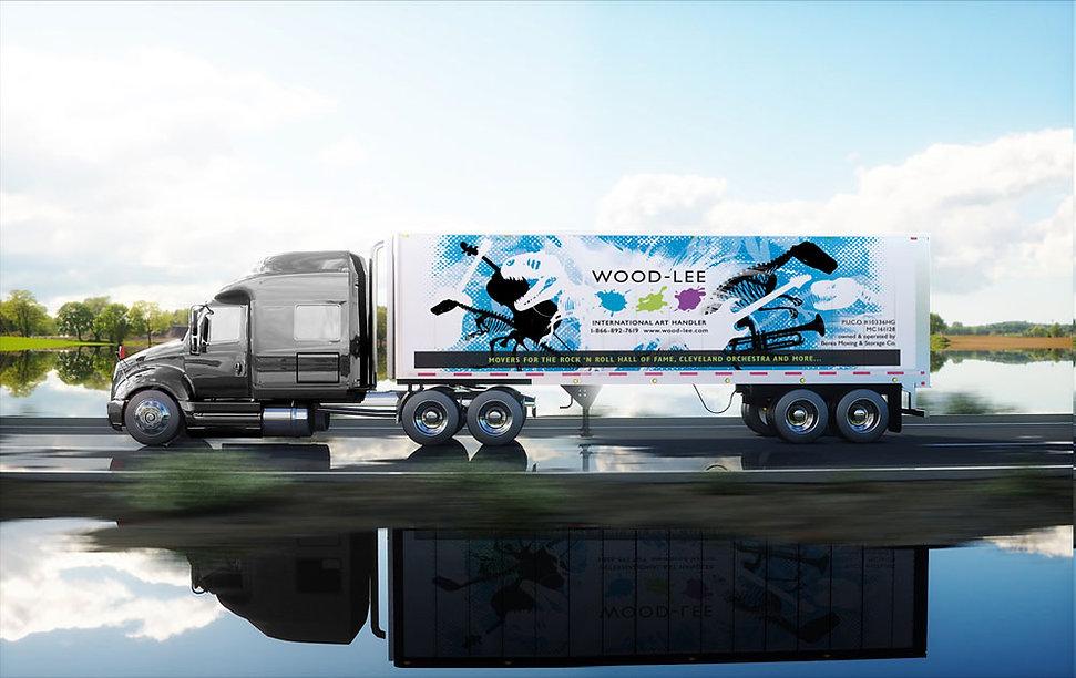 Wood-Lee truck wrap design