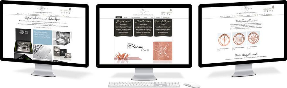 Invite Design website design