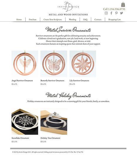 Invite Design ornaments web page
