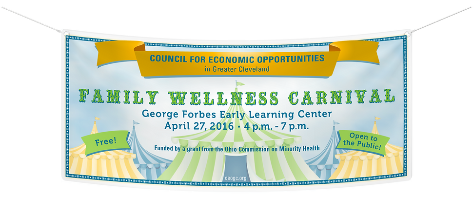 CEOGC family wellness campaign banner design