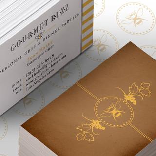 Gourmet Buzz Business Card Detail