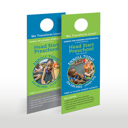 CEOGC head start door hanger design