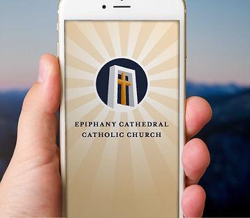 Epiphany Cathedral Catholic Parish App Screen Design