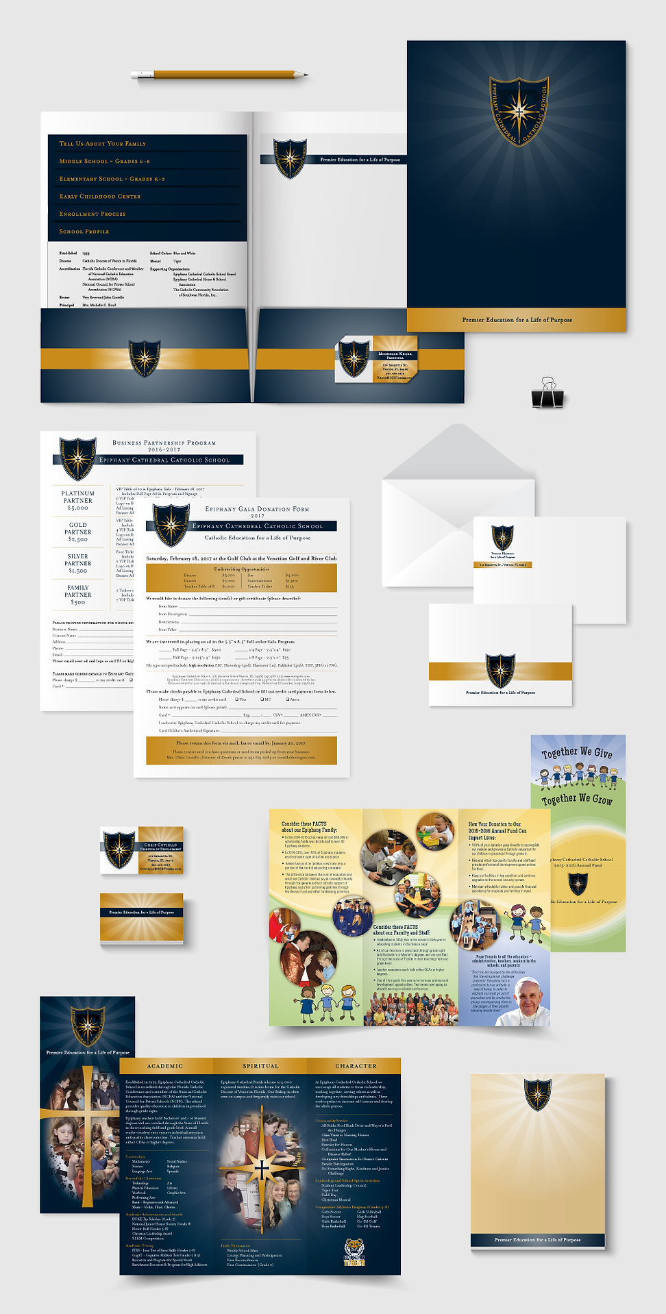 Epiphany Cathedral Catholic School Collateral Design