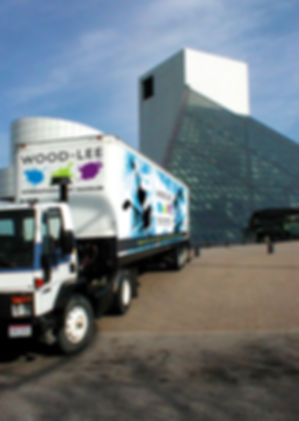 Wood-Lee truck wrap in front of Rock Hall