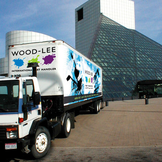 Wood-Lee Truck with Wrap in Front of Rock Hall