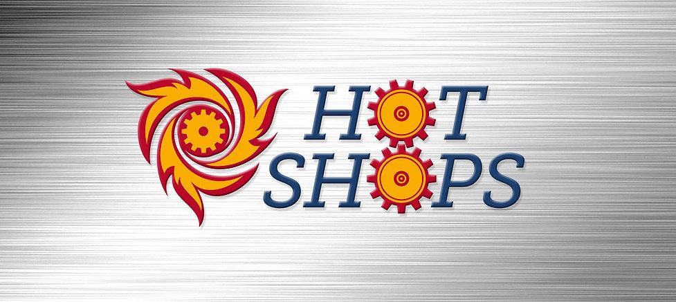 Hot Shops turbine logo design