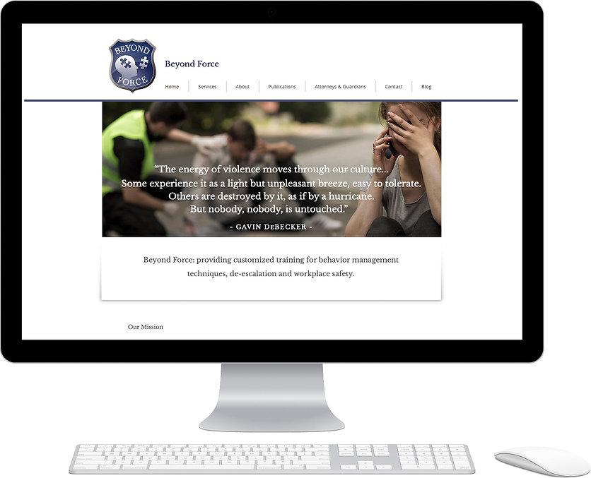 Beyond Force website design