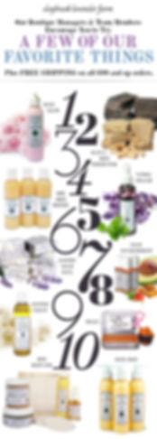 Daybreak Lavender Farm jumble email design