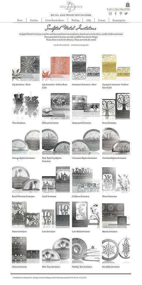 Invite Design gallery web page