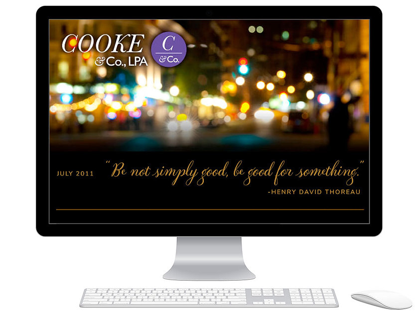 Cooke and Company collateral design