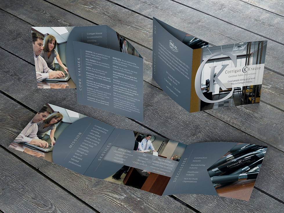Corrigan Krause brochure design